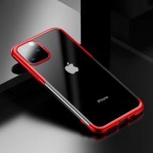 Kryt BASEUS Shining pro Apple iPhone XI - gumový - pokovený - průhledný