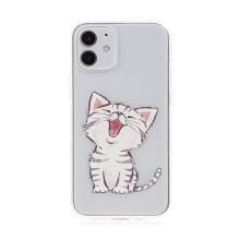 Kryt pro Apple iPhone 12 mini - gumový - ospalé kotě