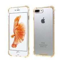 Kryt pro Apple iPhone 7 Plus / 8 Plus - plastový / gumový - průhledný / zlatý