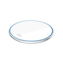 Bezdrátová nabíječka / nabíjecí podložka XO WX-016 Qi - skleněná - bílá