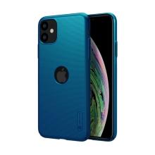 Kryt NILLKIN Super Frosted pro Apple iPhone 11 - plastový - s výřezem pro logo - modrý
