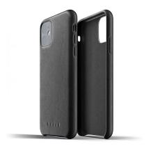 Kryt MUJJO Full leather pro Apple iPhone 11 - kožený - černý