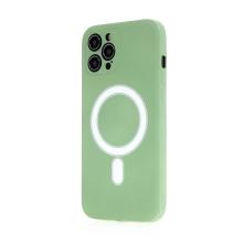 Kryt pro Apple iPhone 12 Pro Max - Magsafe - silikonový - zelený