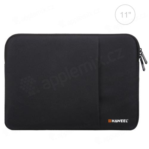 """Pouzdro se zipem HAWEEL pro Apple iPad 11"""" - látkové - černé"""