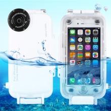 Vodotěsné pouzdro s odolností do 40m hloubky (IPX8) a kompasem pro Apple iPhone 6 / 6S - bílé