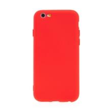 Kryt pro Apple iPhone 6 / 6S - příjemný na dotek - silikonový - červený
