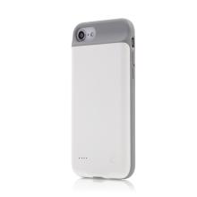 Externí baterie / kryt pro Apple iPhone 6 / 6S / 7 / 8 / SE (2020) - 3000 mAh - matná - bílá
