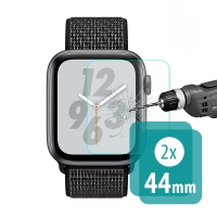 Tvrzené sklo (Tempered Glass) ENKAY pro Apple Watch 44mm series 4 - čiré - sada 2 ks
