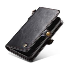 Pouzdro pro Apple iPhone X - peněženka + odnímatelný kryt na telefon - prostor na doklady - umělá kůže - černé