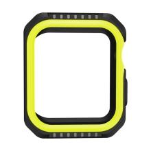 Kryt / pouzdro pro Apple Watch 44mm Series 4 / 5 / 6 / SE- celotělové - plast / silikon - černý / žlutý