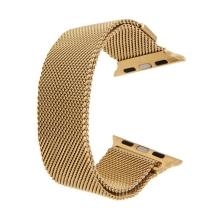 Řemínek pro Apple Watch 44mm Series 4 / 5 / 6 / SE / 42mm 1 / 2 / 3 - magnetický - nerez - zlatý