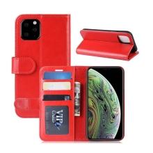 Pouzdro pro Apple iPhone XI - prostor pro platební karty - umělá kůže - červené