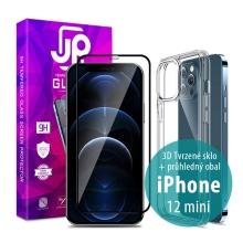 Tvrzené sklo JP pro Apple iPhone 12 mini - Case Friendly + aplikátor + průhledný kryt
