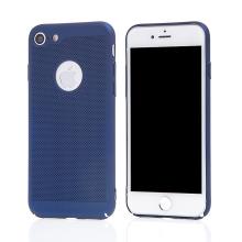Kryt MOFi pro Apple iPhone 7 / 8 / SE (2020) - perforovaný / s otvory - plastový - tmavě modrý