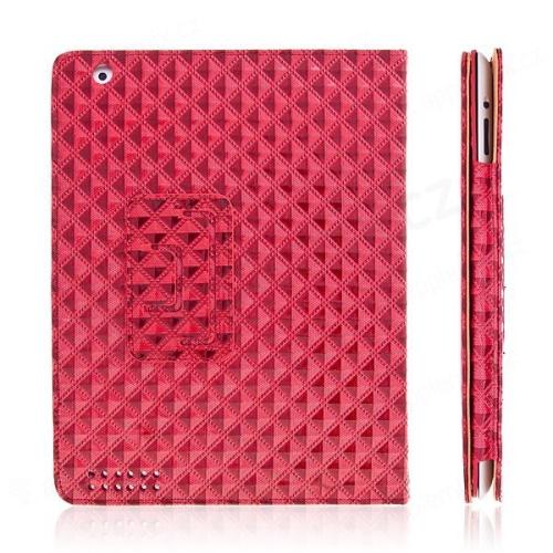 Ochranné pouzdro pro Apple iPad 2 texturované – červené