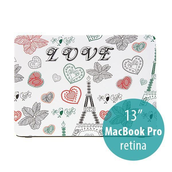Plastový obal pro Apple MacBook Pro 13 Retina (model A1425, A1502) - motiv Eiffelovka