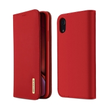 Pouzdro DUX DUCIS Wish pro Apple iPhone Xr - stojánek - červené / hnědé