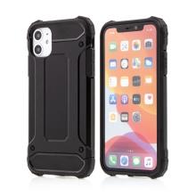 Kryt FORCELL Armor pro Apple iPhone 12 - plastový / gumový - černý