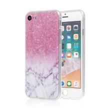 Kryt pro Apple iPhone 7 / 8 - gumový - růžový mramor