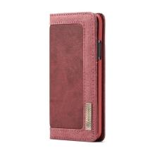 Pouzdro CASEME pro Apple iPhone Xs Max - stojánek - látkové - červené / růžové