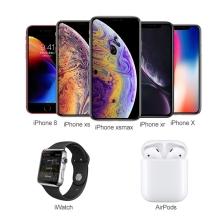 Stolní lampička + bezdrátová nabíječka Qi+ nabíječka Watch + nabíječka AirPods + USB-A - stříbrná / bílá