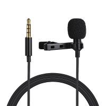 Mikrofon pro Apple iPhone / iPod / iPad / Mac - profi - externí - klipový - 3,5mm jack - černý