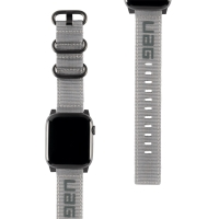 Řemínek UAG Nato pro Apple Watch 40mm Series 4 / 5 / 6 / SE / 38mm 1 / 2 / 3 - nylonový - šedý