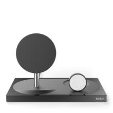 Nabíjecí stojánek / dokovací stanice BELKIN Boost UP pro Apple iPhone / Watch - MFi - hliníkový - černý