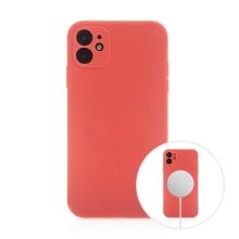 Kryt pro Apple iPhone 11 - MagSafe magnety - silikonový - červený
