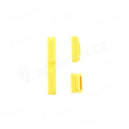Sada postranních tlačítek / tlačítka pro Apple iPhone 5C (Power + Volume + Mute) - žlutá