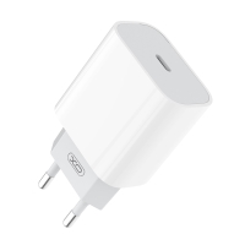 20W EU napájecí adaptér / nabíječka XO - rychlonabíjecí - USB-C pro Apple iPhone / iPad - bílý