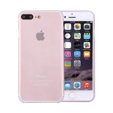 Kryt / obal pro Apple iPhone 7 Plus / 8 Plus chrana čočky - plastový / tenký - bílý