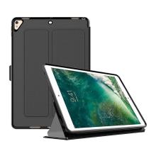 Pouzdro pro Apple iPad Pro 10,5 - stojánek + funkce chytrého uspání - guma / umělá kůže - černé