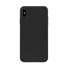 Kryt NILLKIN pro Apple iPhone Xs Max - karbonová textura - černý - plastový