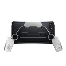 Kryt BASEUS pro Apple iPhone 7 / 8 - herní provedení s úchyty - plastový - černý / stříbrný