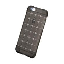 Gumový kryt ROCK pro Apple iPhone 6 / 6S - 3D kostky - průhledný - světle šedý