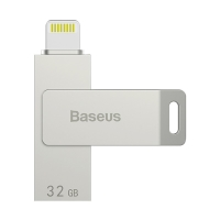 Flash disk BASEUS 32GB MFi certifikovaný - Lightning a USB konektor - stříbrný