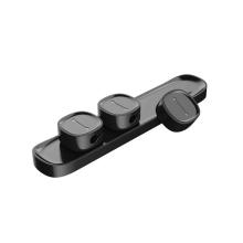 Spony / příchytky na kabely BASEUS - sada 3 kusů - černé