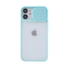 Kryt pro Apple iPhone 12 / 12 Pro - matná záda - krytka fotoaparátu - plastový / gumový - tyrkysový
