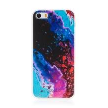 Kryt BABACO pro Apple iPhone 5 / 5S / SE - gumový - abstraktní vlnky