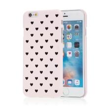 Kryt pro Apple iPhone 6 / 6S - plastový - srdíčka - růžový
