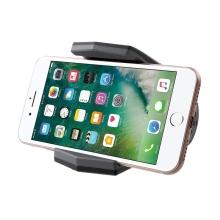 Držák / stojánek pro Apple iPhone - aligátor - černý / šedý