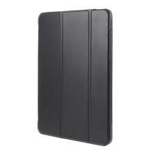 Pouzdro / kryt pro Apple iPad Air 4 (2020) - funkce chytrého uspání - umělá kůže - gumová záda - černé