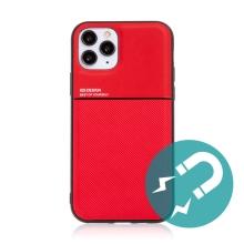 Kryt pro Apple iPhone 11 Pro - vestavěný plíšek pro držáky - plastový / gumový - červený