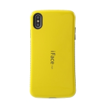 Kryt iFACE pro Apple iPhone Xs Max - plastový / gumový - černý / žlutý