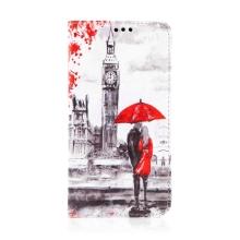 Pouzdro pro Apple iPhone 11 - umělá kůže - milenci v Londýně