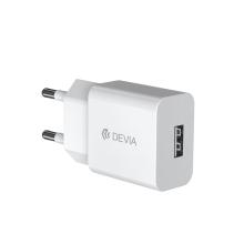 2v1 nabíjecí sada DEVIA pro Apple zařízení - EU adaptér a kabel MFi Lightning 1m - bílá