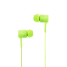 Sluchátka SWISSTEN pro Apple zařízení - špunty - ovládání + mikrofon - plast - zelená
