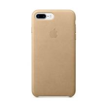 Originální kryt pro Apple iPhone 7 Plus / 8 Plus - kožený - žlutohnědý