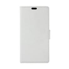 Pouzdro pro Apple iPhone Xr - stojánek + prostor pro platební karty - umělá kůže - bílé